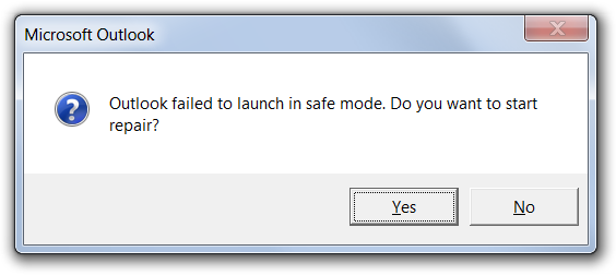 Case of the Outlook 2010 Crash on Startup … even Outlook