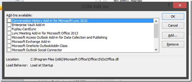 Case Of The Outlook Search