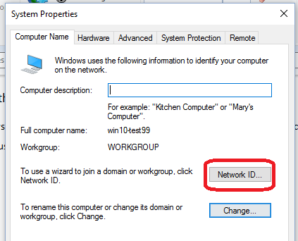 how to create an windows 10 domain