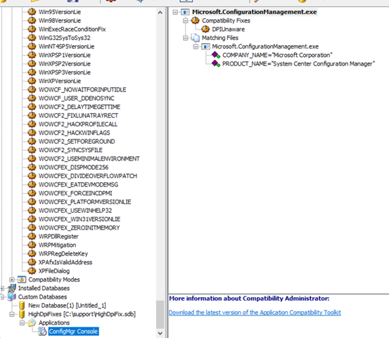 Force DPI Scaling For Configuration Manager Console   chentiangemalc